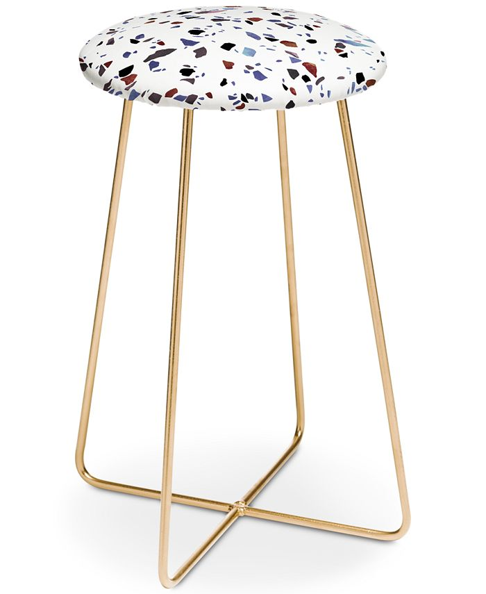 Deny Designs Emanuela Carratoni Autumnal Terrazzo Counter Stool Reviews Furniture Macy S