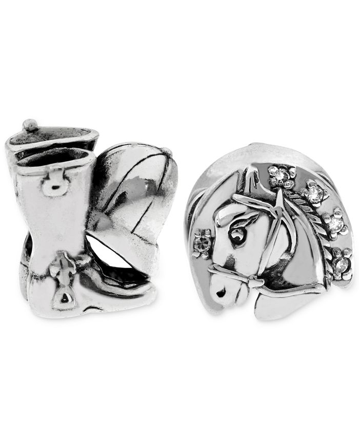 Rhona Sutton - 2-Pc. Equestrian Bead Charms in Sterling Silver