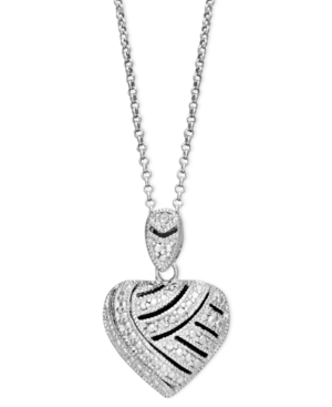 Victoria Townsend Sterling Silver Necklace, Diamond Accent Heart Pendant