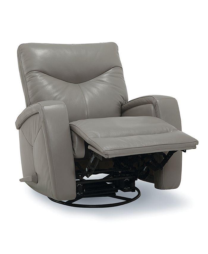 Furniture - Leather Swivel Rocker Pushback Recliner
