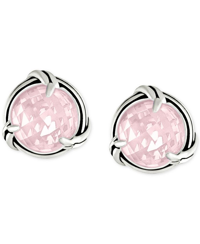 Peter Thomas Roth - Rose Quartz Stud Earrings (4-1/2 ct. t.w.) in Sterling Silver