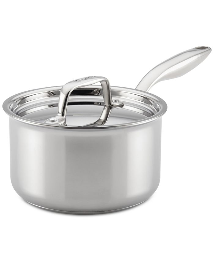 Breville - Thermal Pro Clad Stainless Steel 2-Qt. Saucepan & Lid