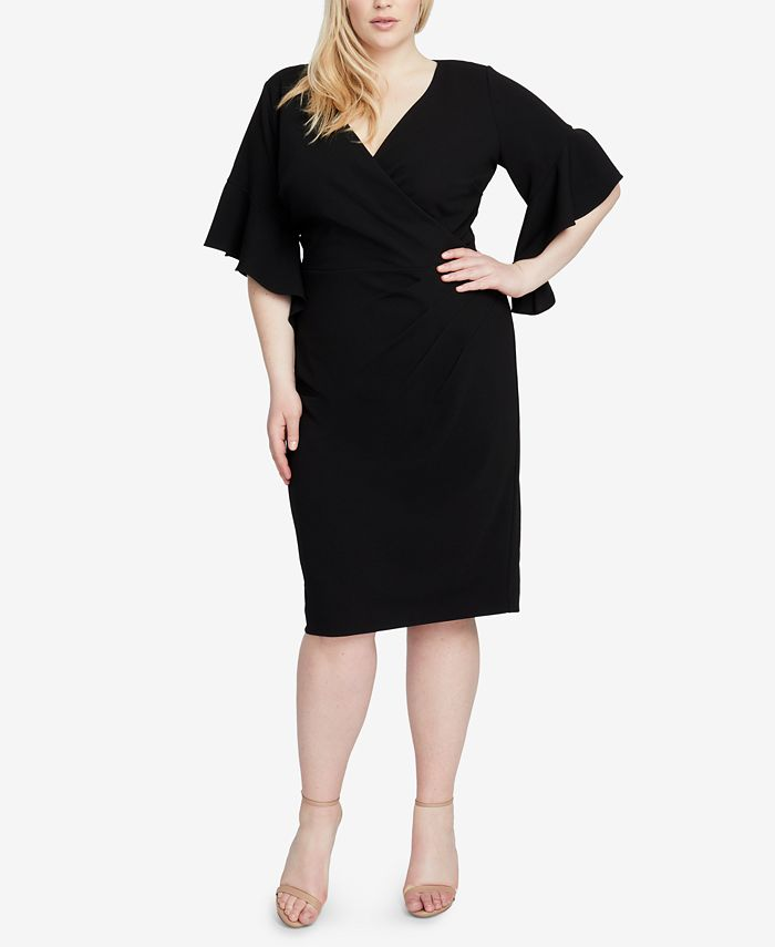RACHEL Rachel Roy - Plus Size Faux-Wrap Sheath Dress