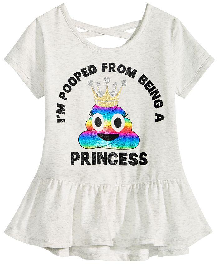 Happy Threads - Toddler Girls Crisscross Strap Peplum T-Shirt