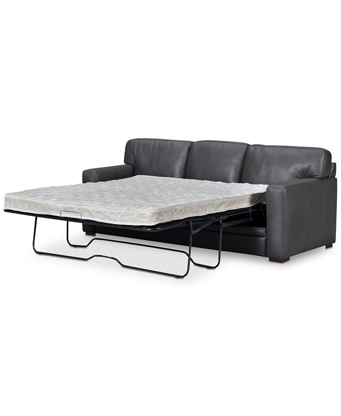 """Furniture - Avenell 87"""" Leather Queen Sleeper Sofa"""