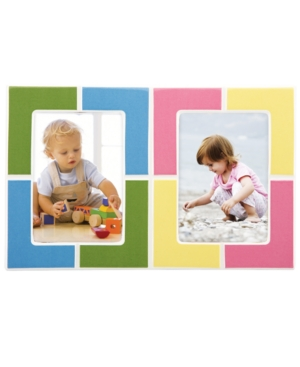 """Gorham Picture Frame, Merry Go Round Pitter Patter Double 5"""" x 7"""""""