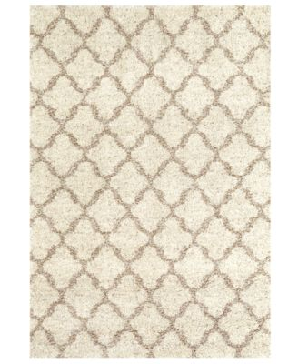 "Prima Shag Temara Lattice 7'11"" x 10'10"" Area Rug"