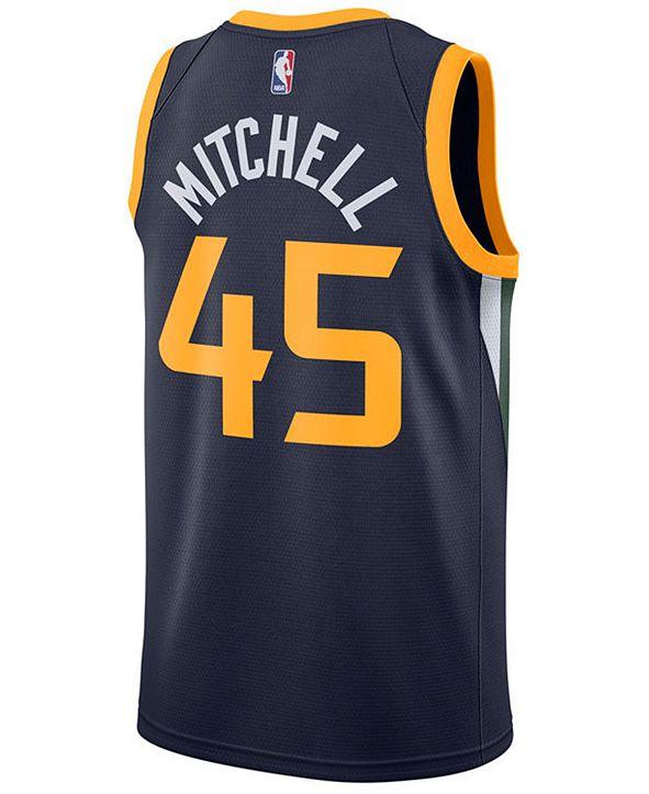 Nike Donovan Mitchell Utah Jazz Icon Swingman Jersey, Big Boys (8-20)