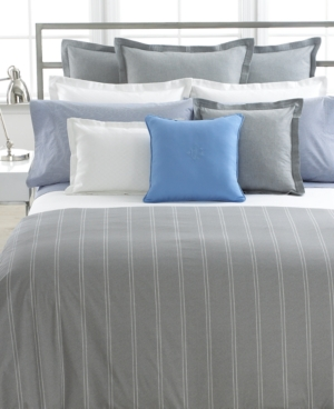 Lauren by Ralph Lauren Bedding, Jermyn Street Large Stripe Twin Duvet Cover Bedding
