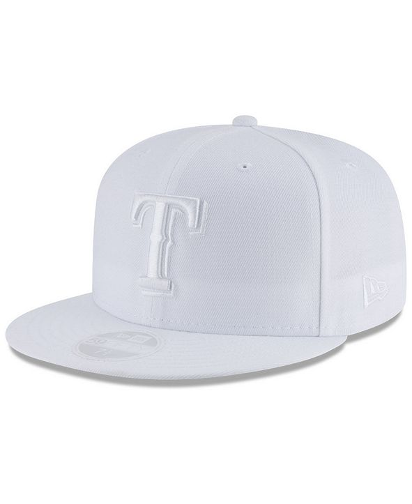 New Era Texas Rangers White Out 59FIFTY FITTED Cap
