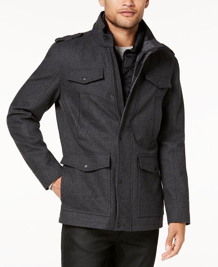 GUESS - Men's Plaid-Lined Jacket