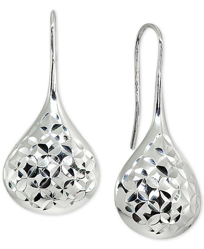 Giani Bernini - Textured Teardrop Drop Earrings in Sterling Silver