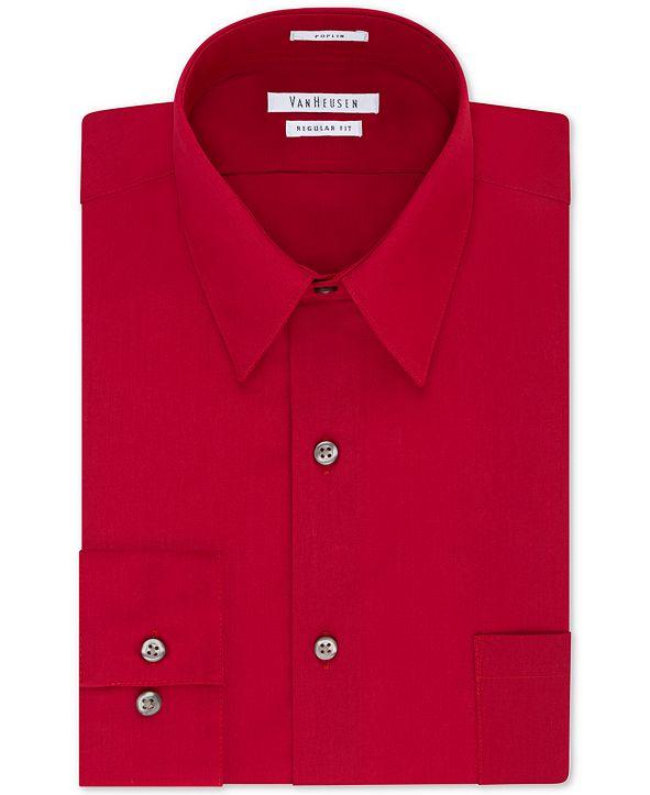 Van Heusen Men's Classic-Fit Poplin Dress Shirt