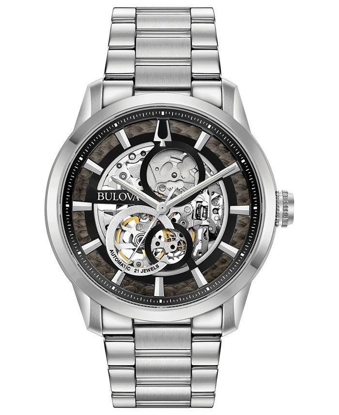 Bulova - Men's Automatic Sutton Stainless Steel Bracelet Watch 43mm