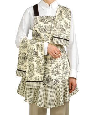 Waverly Kitchen Set, Rustic Life Apron and 3 Kitchen Towels