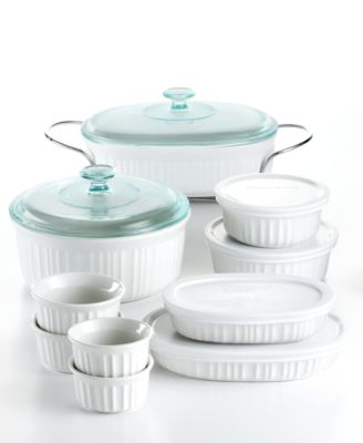Corningware French White 17 Piece Bakeware Set