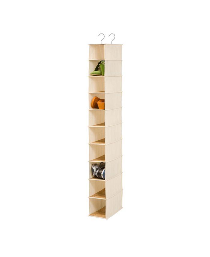Honey Can Do - 10 shelf shoe organizer - bamboo/natural