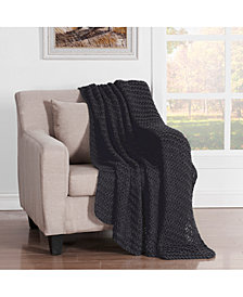 "Luca Chunky Knit Throw, 60"" L X 50"" W"