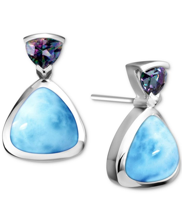 Marahlago - Larimar & Mystic Topaz (1/5 ct. t.w.) Stud Earrings in Sterling Silver