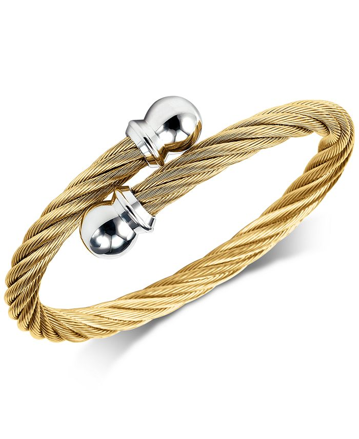 CHARRIOL - Cable Twist Bangle Bracelet in PVD Gold-Tone Stainless Steel
