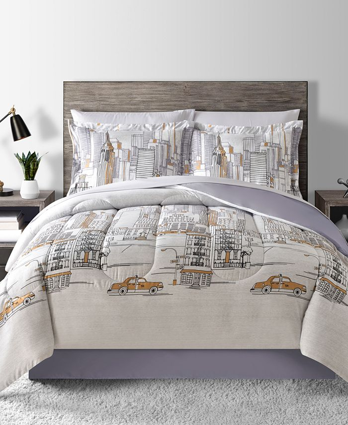 Fairfield Square Collection - New York Reversible 8-Pc. Queen Comforter Set