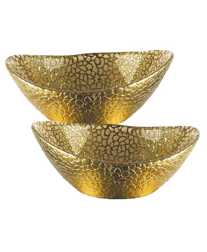 "Badash Crystal - 2 pc Gold 6"" Bowl"