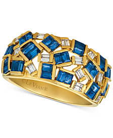 Le Vian® Baguette Frenzy™ Sapphire (1-3/4 ct. t.w.) & Diamond (1/5 ct. t.w.) Ring in 14K Gold