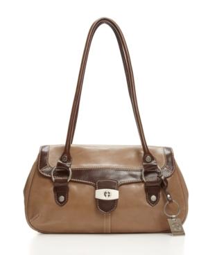 Giani Bernini Handbag, Glazed New Flap Satchel