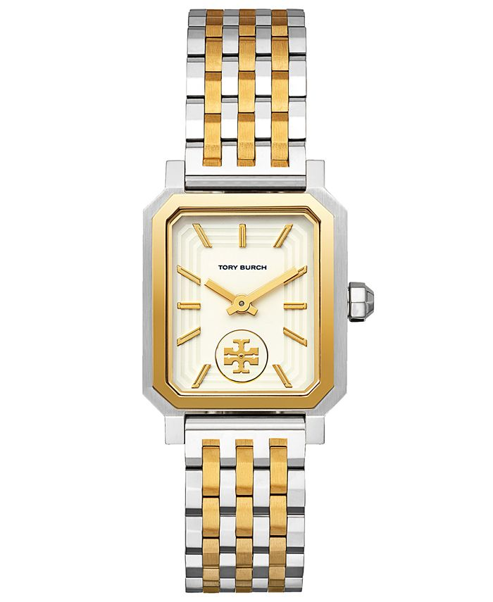 Tory Burch - Women's Robinson Two-Tone Stainless Steel Bracelet Watch 27x29mm