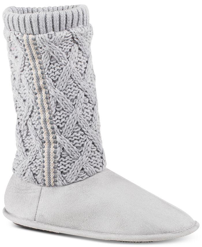 Isotoner Signature - Women's Tessa Sweater-Knit Tall Boot Slippers
