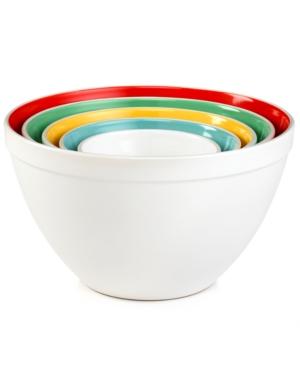 Martha Stewart Collection Mixing Bowls, Set of 5 Ceramic