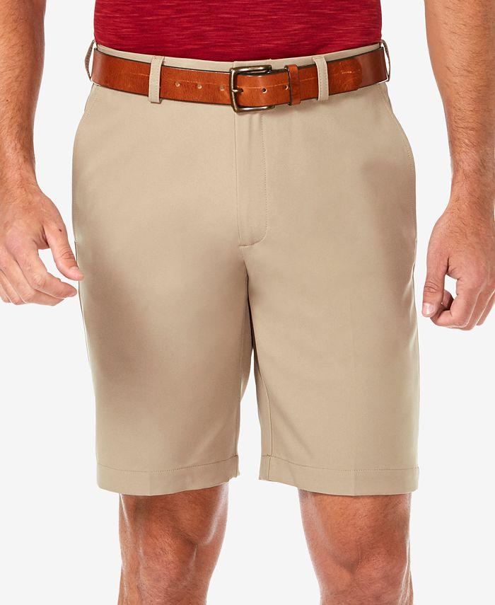 """Haggar - Men's Cool 18 PRO Flat Front Classic-Fit 9.5"""" Shorts"""