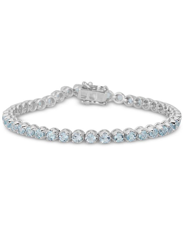 Macy's Sky Blue Topaz Link Bracelet (4 ct. t.w.) in Sterling Silver & Reviews - Bracelets - Jewelry & Watches - Macy's