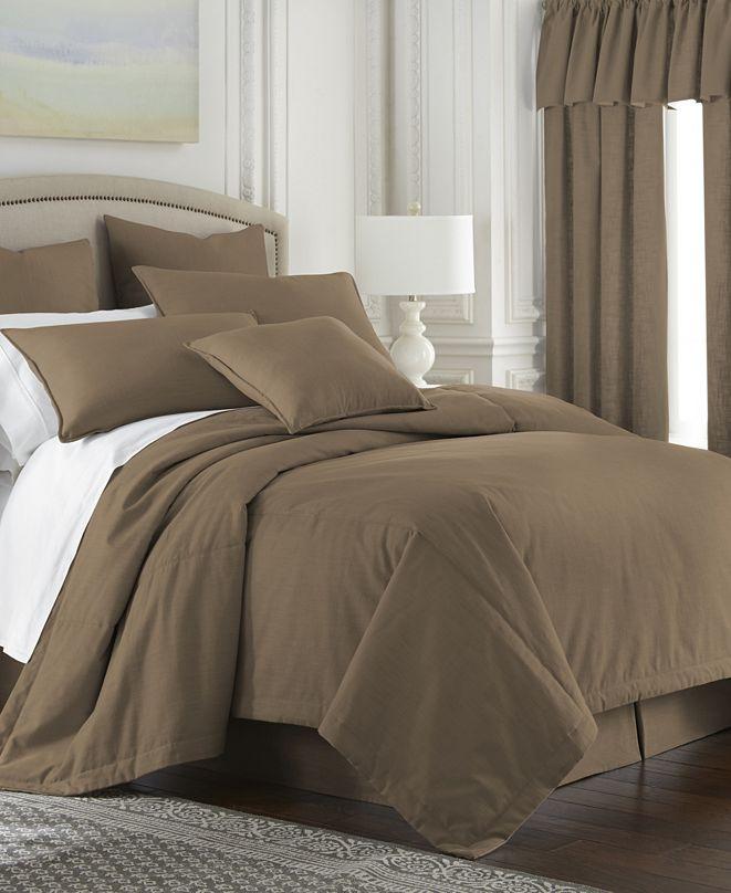 Colcha Linens Cambric Walnut Duvet Cover-Queen
