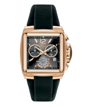 ESQ by Movado Watch, Men's Chronograph Esquire Black Silicone Strap 07301369