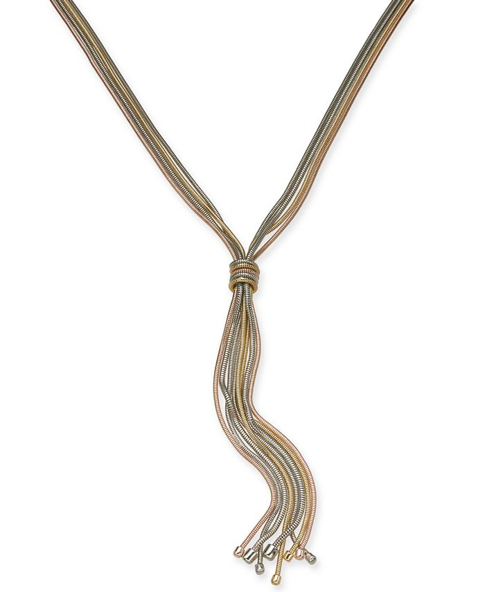 """Alfani - Knotted Lariat Necklace, 32"""" + 2"""" extender"""