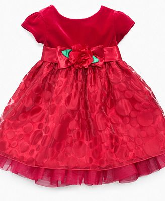 Rose baby dress baby girls polka dot holiday dress kids macy s