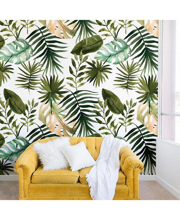 Deny Designs - Marta Barragan Camarasa Painting Watercolor Leaves Wall Mural