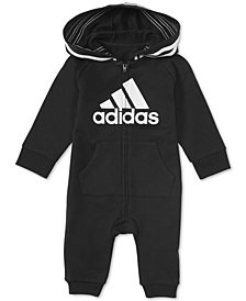 adidas Baby Boys & Girls 1-Pc. Footless Full-Zip Coverall