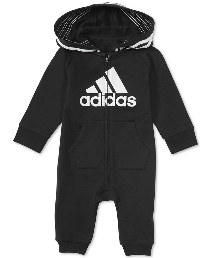 adidas - Baby Boys 1-Pc. Footless Full-Zip Coverall