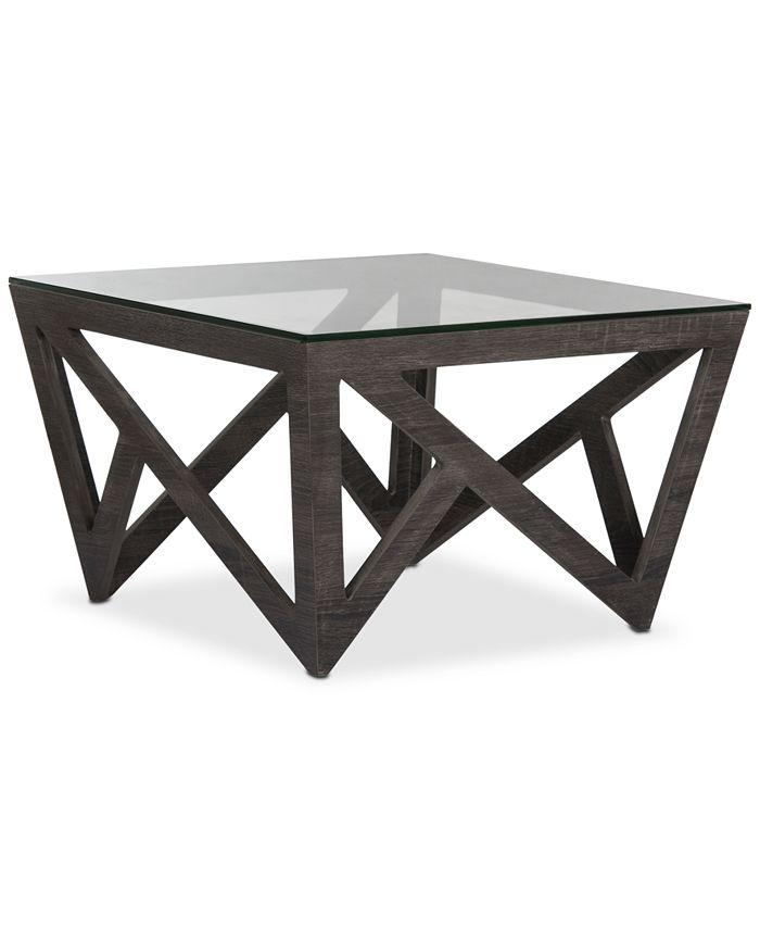 Safavieh - Radley Glass Top Coffee Table, Quick Ship