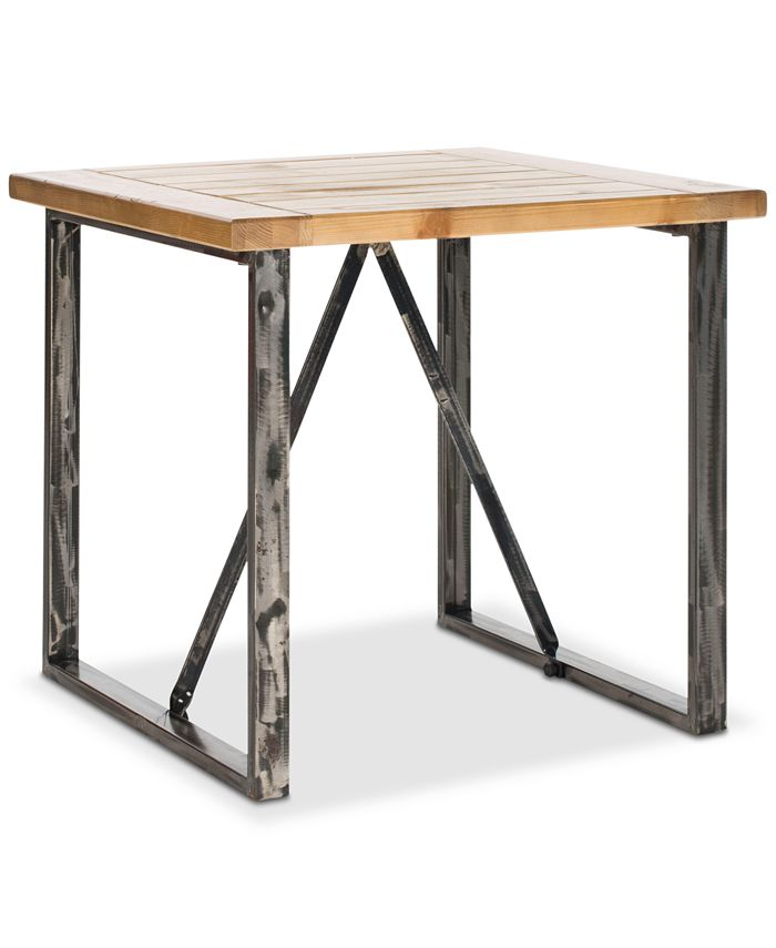 Safavieh - Chase Wood Top End Table, Quick Ship
