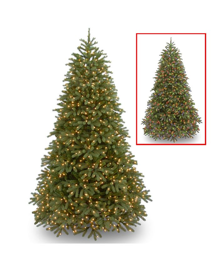 National Tree Company - National Tree 9' Feel Real Jersey Fraser Fir Medium Tree with 1500 Dual Color LED Lights