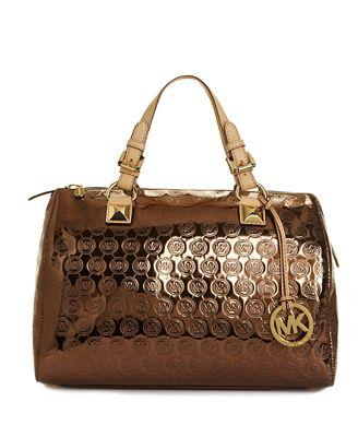 MICHAEL Michael Kors Handbag, Jet Set Monogram Grayson Satchel