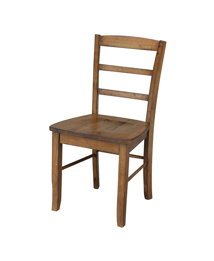 International Concepts - Madrid Ladder-back Chair, Set of 2