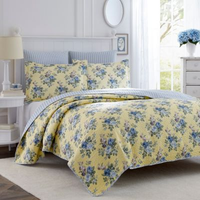 King Linley Yellow Quilt Set