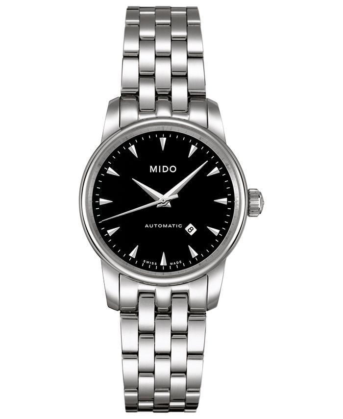 Mido - Women's Swiss Automatic Baroncelli Stainless Steel Bracelet Watch 29mm