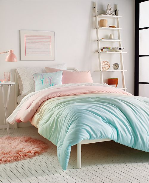 Dkny Kids Empire Light Full Queen, Pink And Mint Twin Bedding