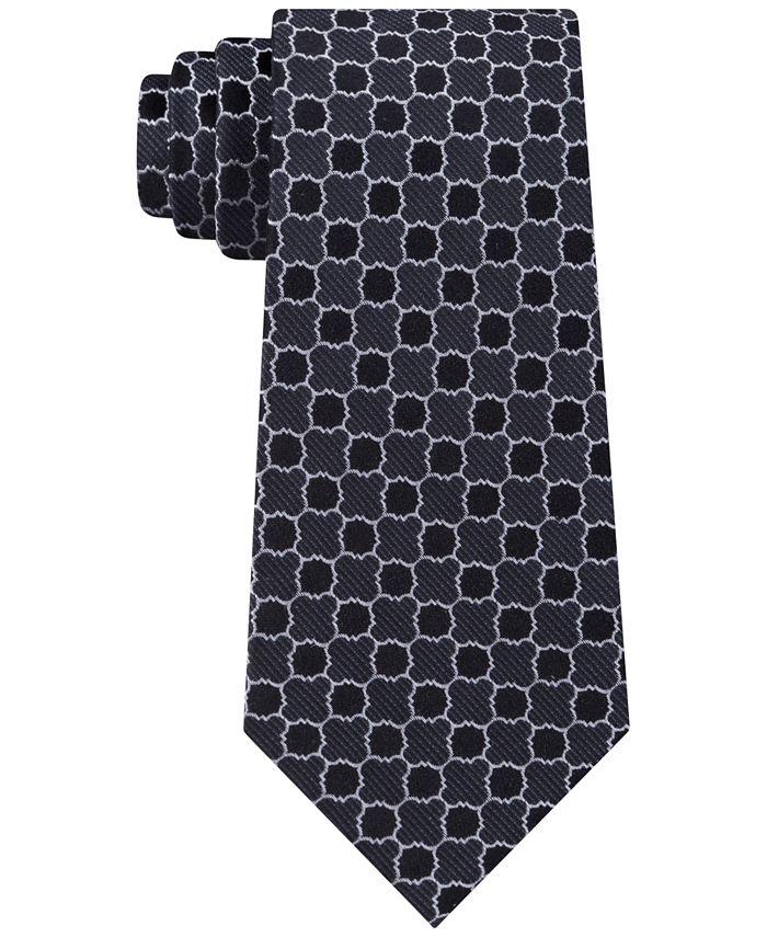 Calvin Klein - Men's Quatrefoil Medallion Slim Silk Tie