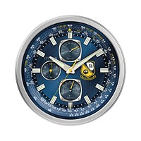 Deals on Citizen Gallery Blue Angels Silver-Tone and Blue Wall Clock
